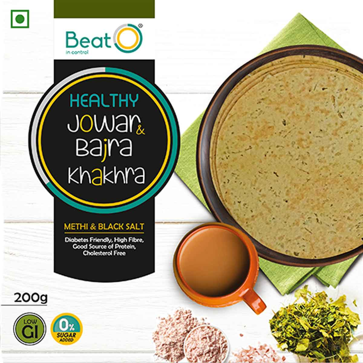 Jowar and Bajra Khakhra - Methi and Black Salt