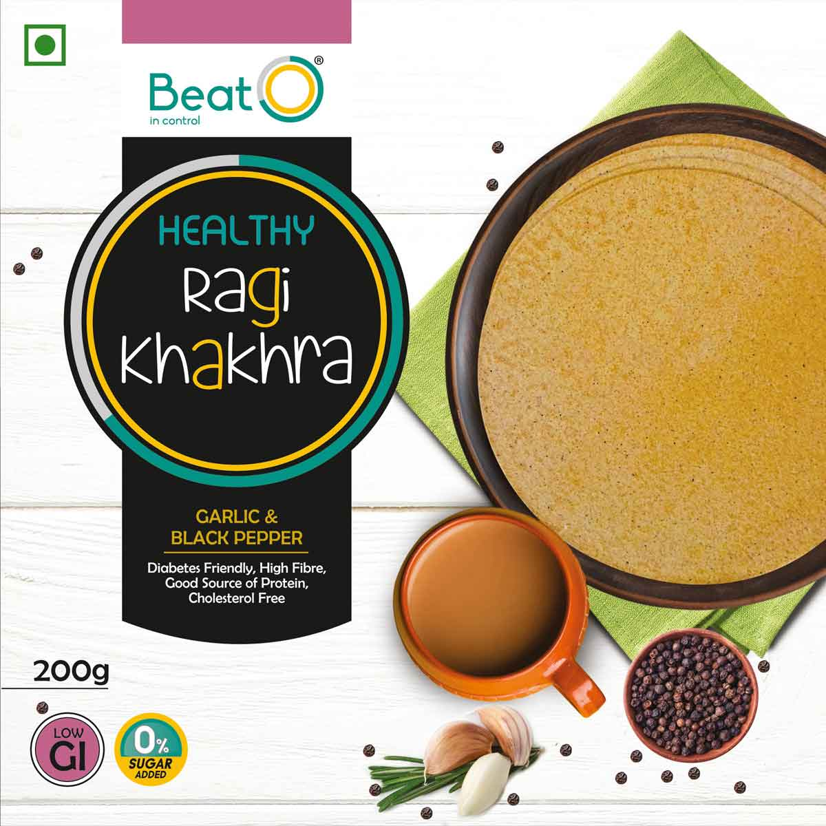 Ragi Khakhra - Garlic and Black Pepper
