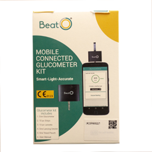 Smartphone Glucometer with 5 Strips.