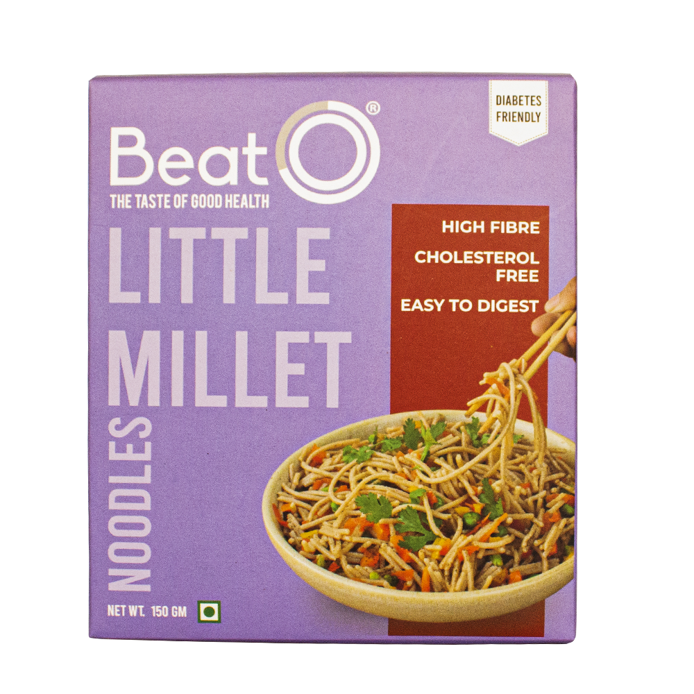 BeatO Little Millet Noodles, 150gm (Nutrient Rich, Diabetic-Friendly)