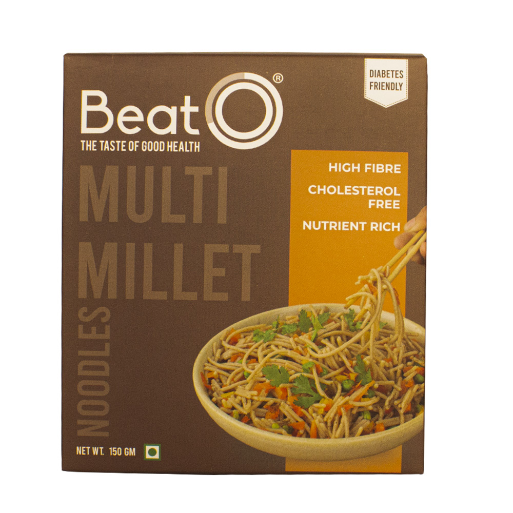 BeatO Multi Millet Noodles, 150gm (6 Super Millets, Diabetic-Friendly)
