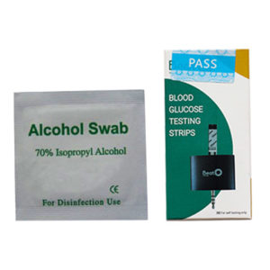 50 Glucometer Strips and Alcohol Swabs